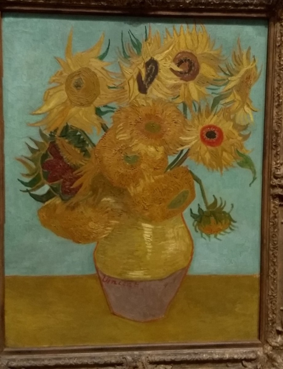 "One of Van Gogh's Famous ""Sunflowers"""