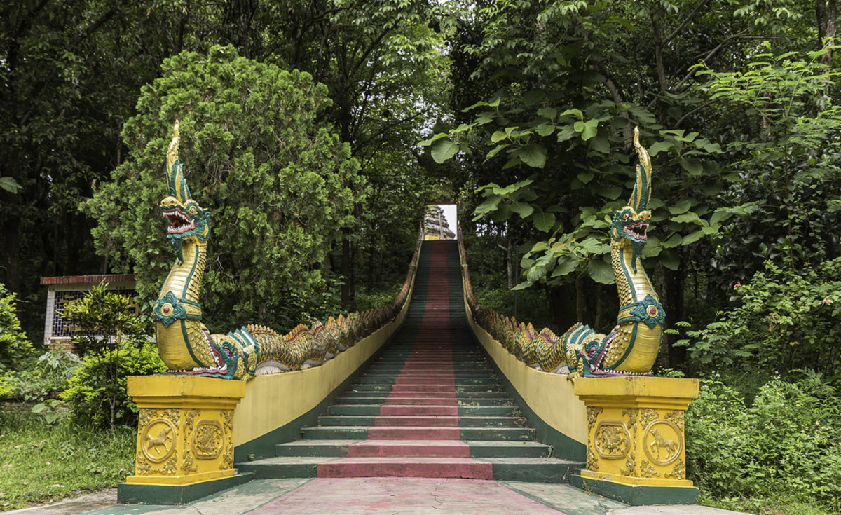 Entrance to Wat Doi Phrabat, a temple in Chiang Rai.