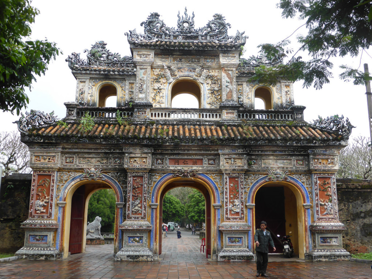 Old architecture in Hue, Vietnam.