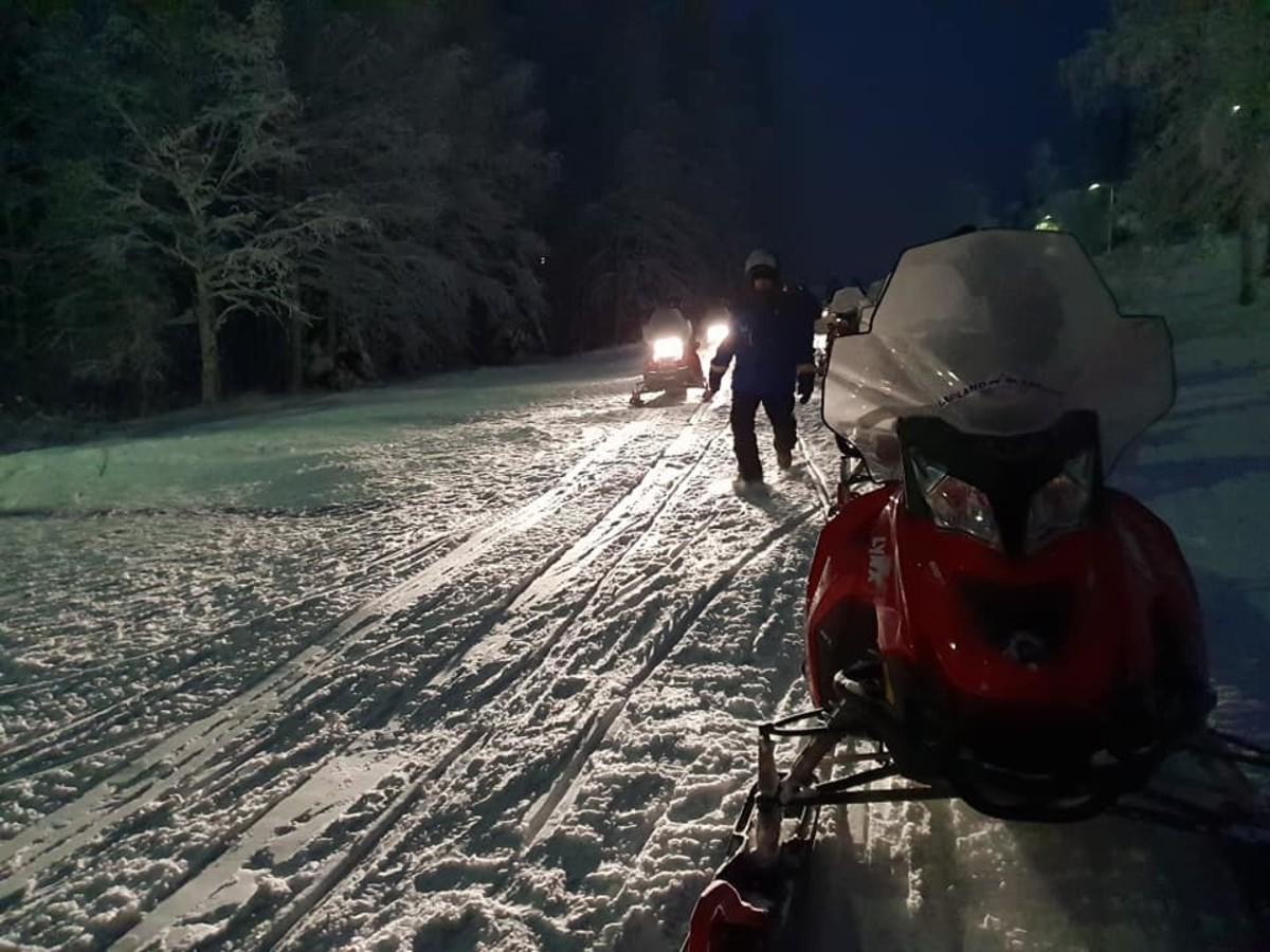 Lapland Safari's snowmobiles.