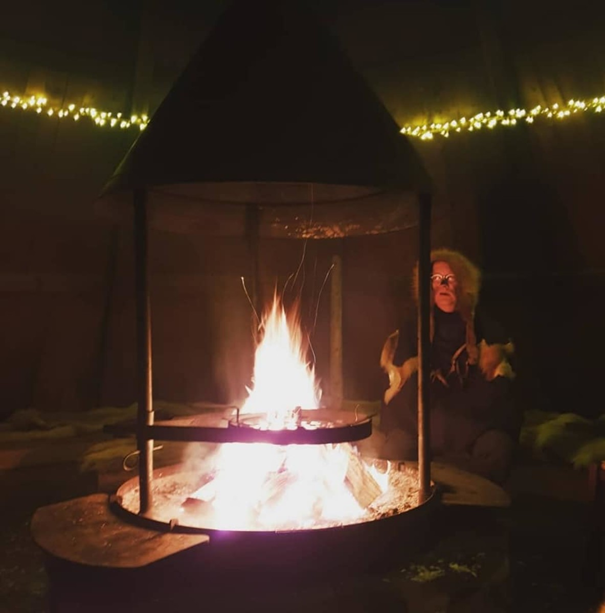 At the noadi's fire.