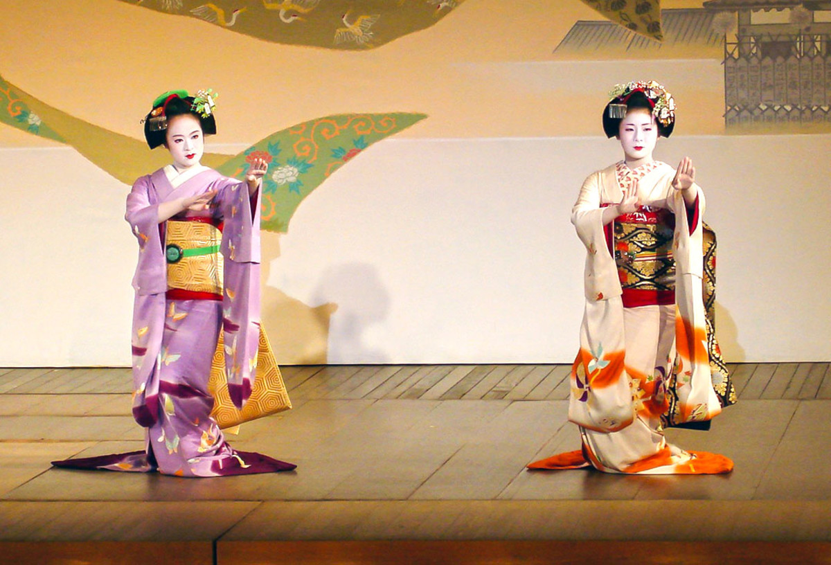 Kyoto Style traditional Japanese dance.
