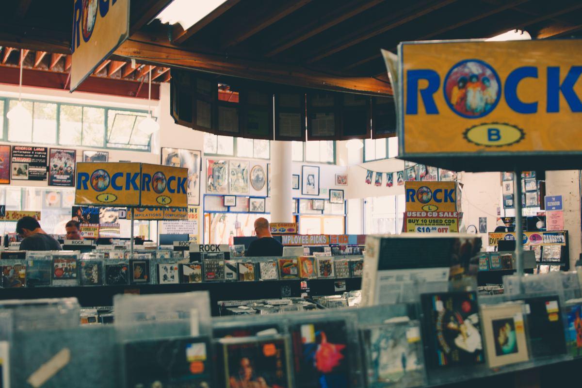 Rasputin Records, Berkeley, California.