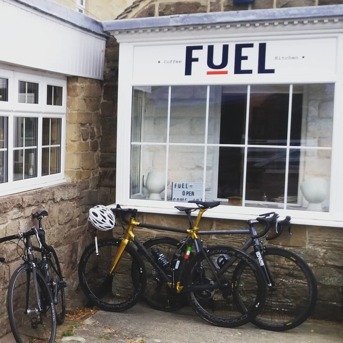 Always plenty of bikes outside Fuel