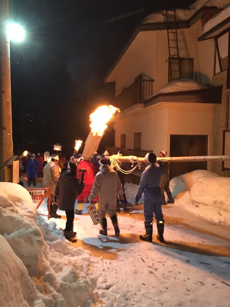 Villagers heading towards 'ground zero', where  shrine to be set ablazed