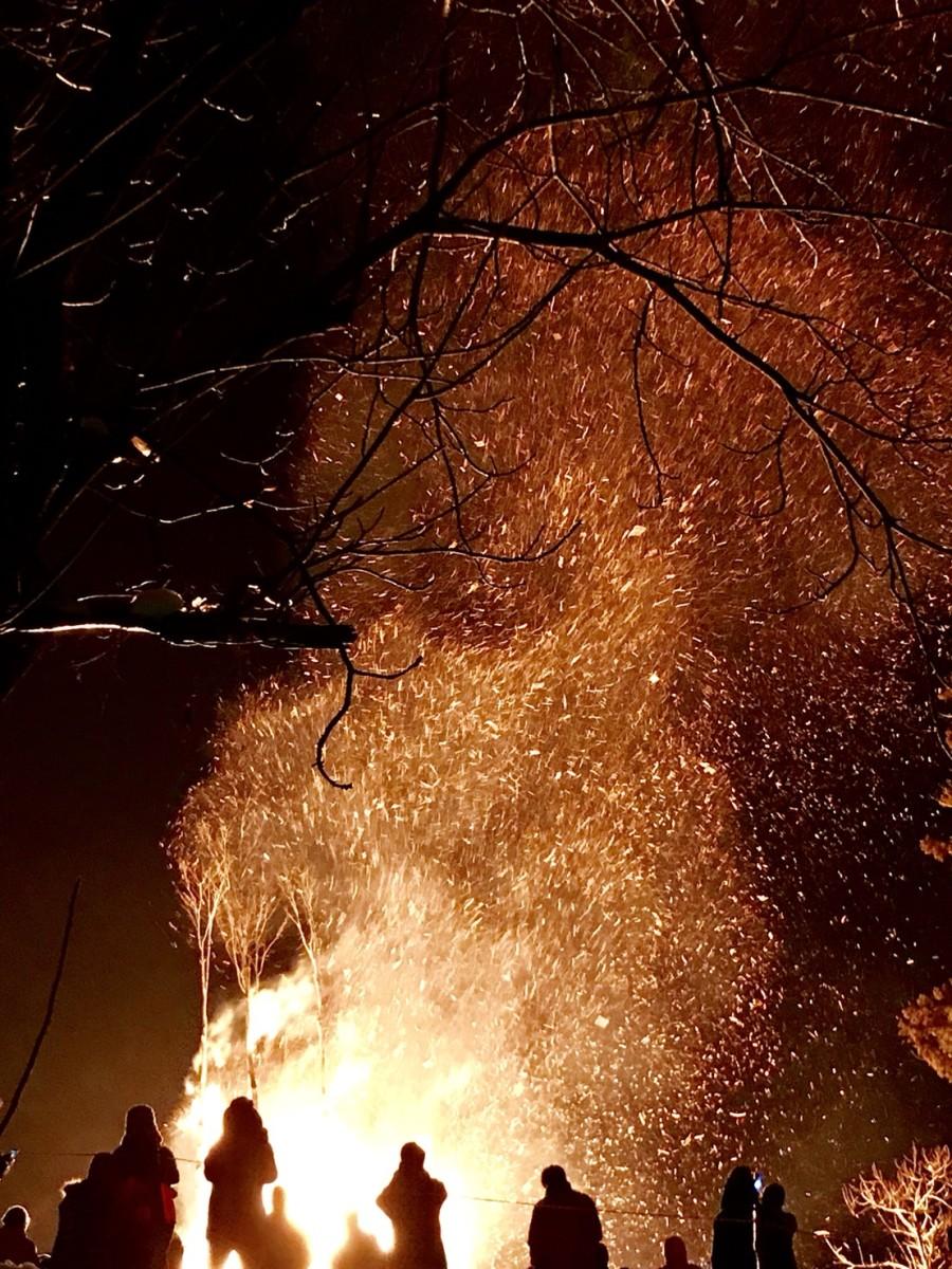 Giant bonfire seen for miles