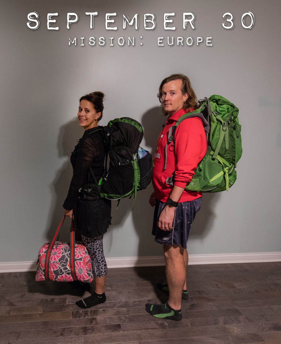 We had at least 12 outfit combinations and various layering items in each of our packs. We traveled in October and had every weather scenario you could imagine across seven countries!