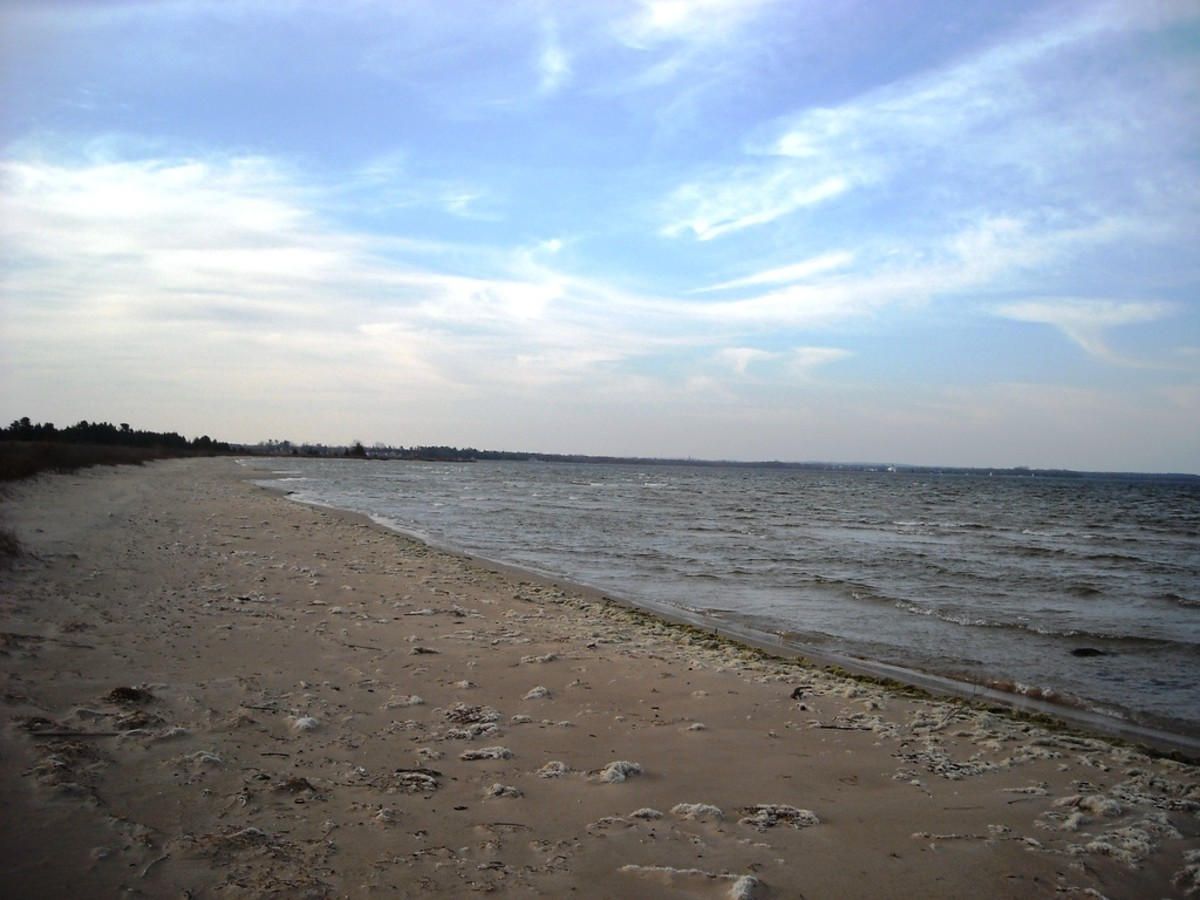 Beach on Lake Huron at Cheboygan State Park near Cheboygan, Michigan