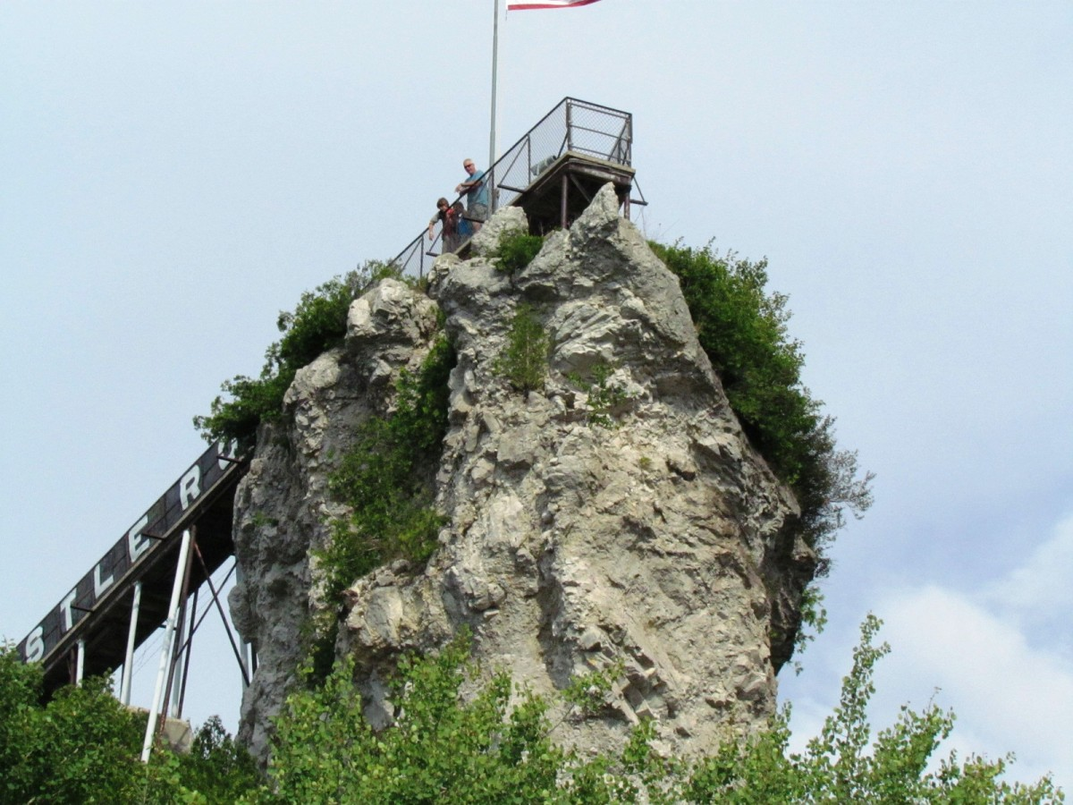 Stop and Climb Castle Rock in St. Ignace, Michigan.