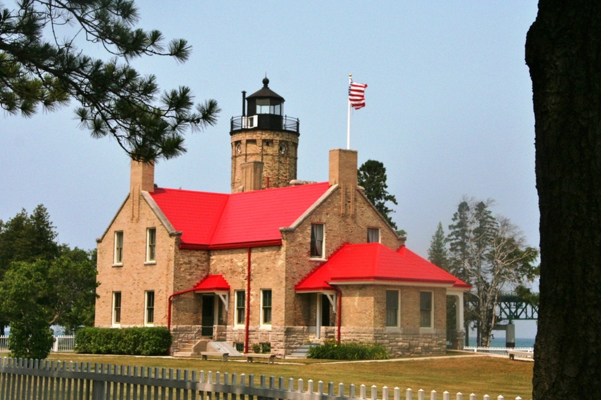 Lighthouse at Mackinaw City, Michigan