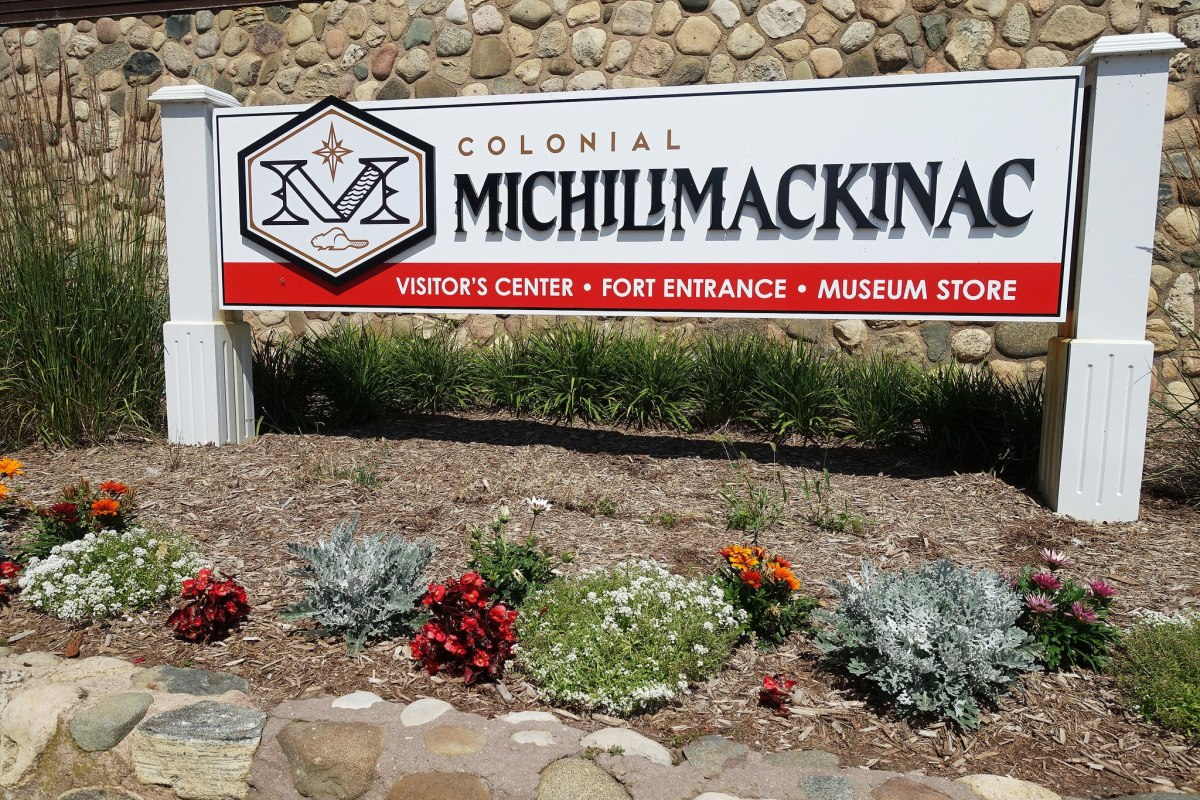 Colonial Michilimackinac State Park in Mackinaw City, Michigan