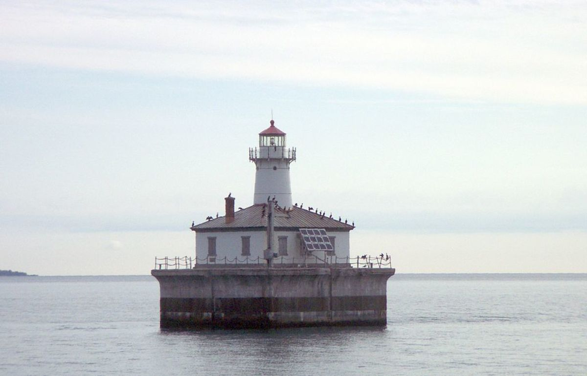 Fourteen Foot Shoal Light @ Cheboygan State Park.