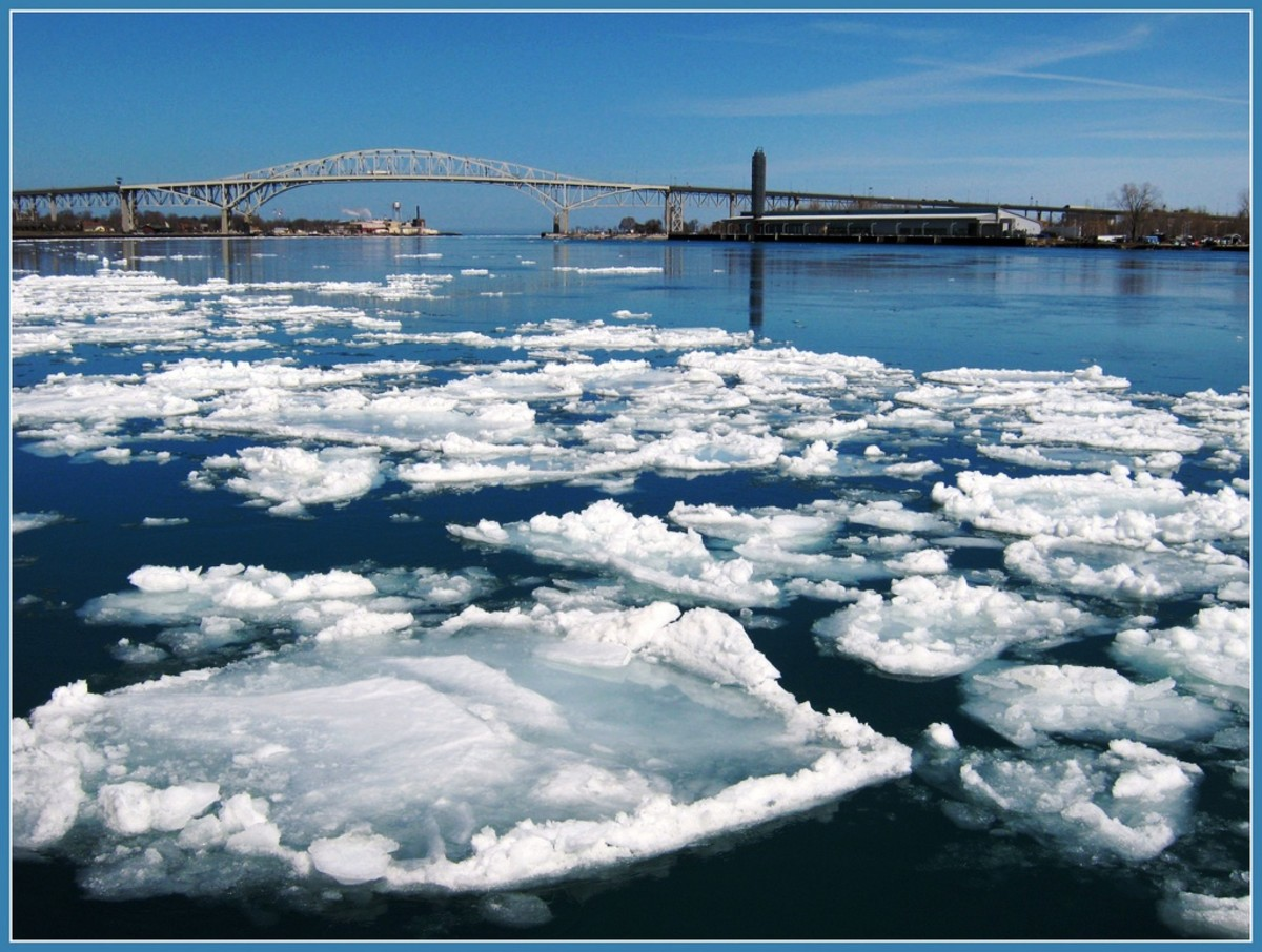 Blue Water Bridge in Port Huron, Michigan.