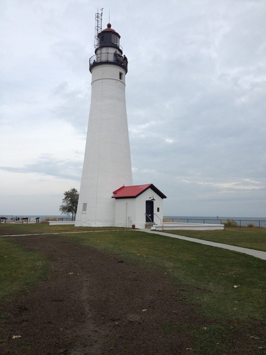 Fort Gratiot Lighthouse at Port Huron, Michigan