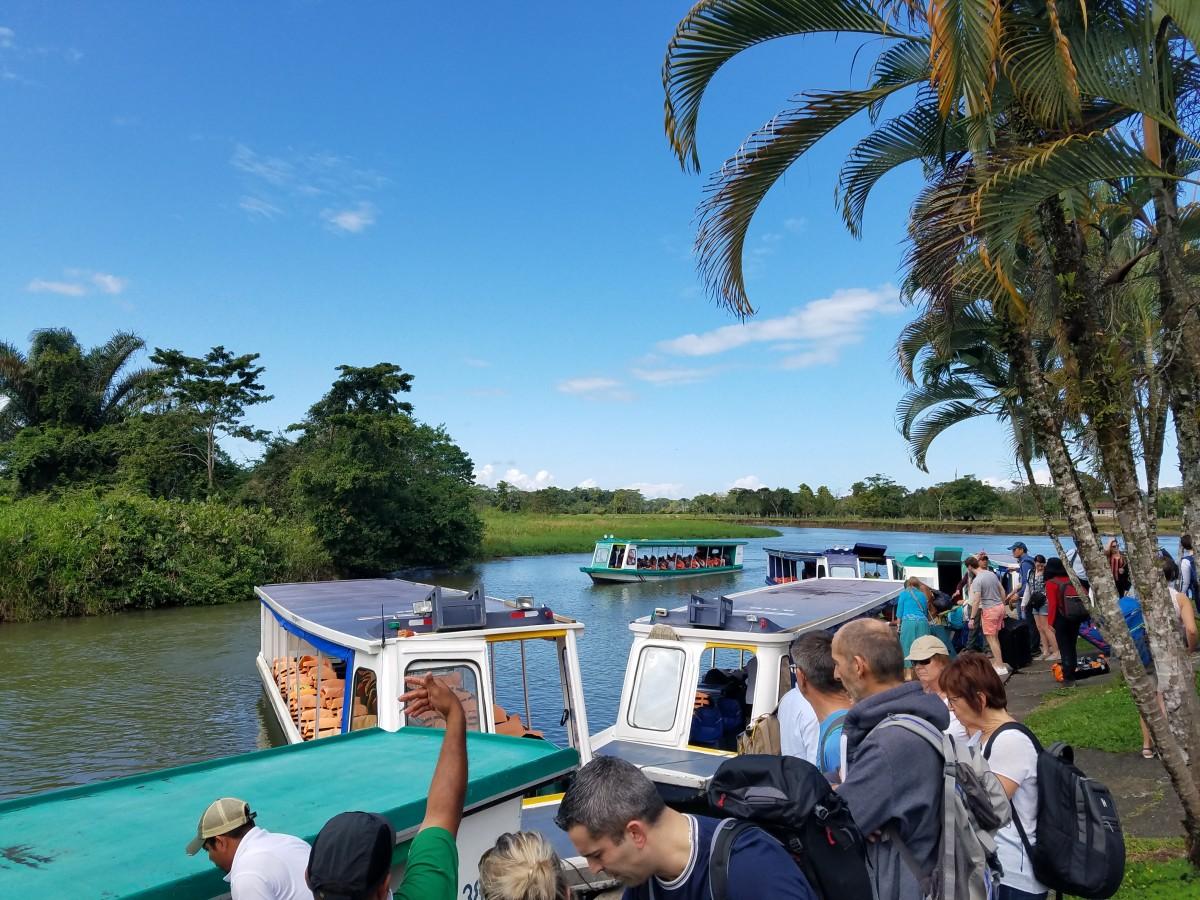 Preparing For Boat Ride To Pachira Lodge