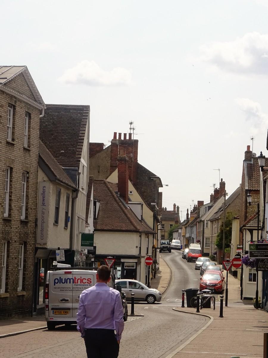 A view along Hatter Street, Bury St Edmunds