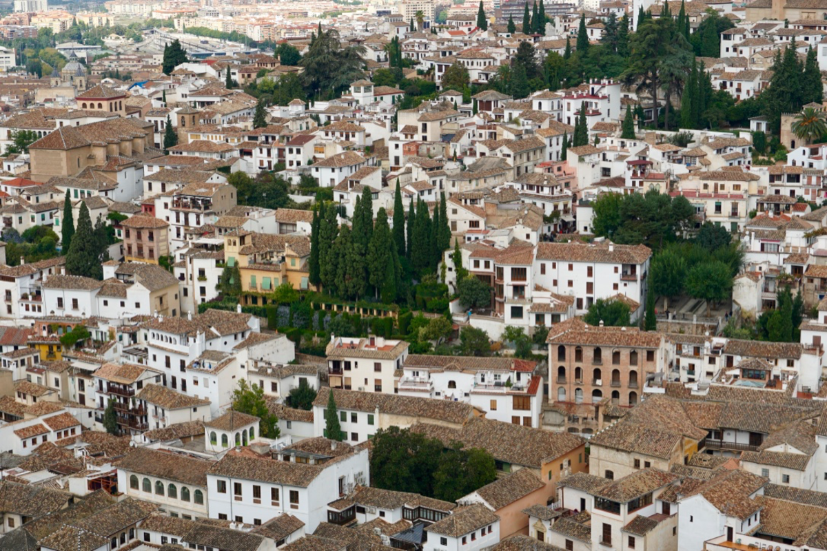 View of the Albaycin from the Alhambra