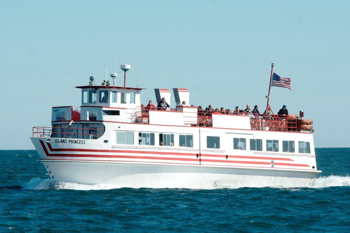 "MV Island Princess on the ""Grand Tour"" cruise at the Apostle Islands National Lakeshore."