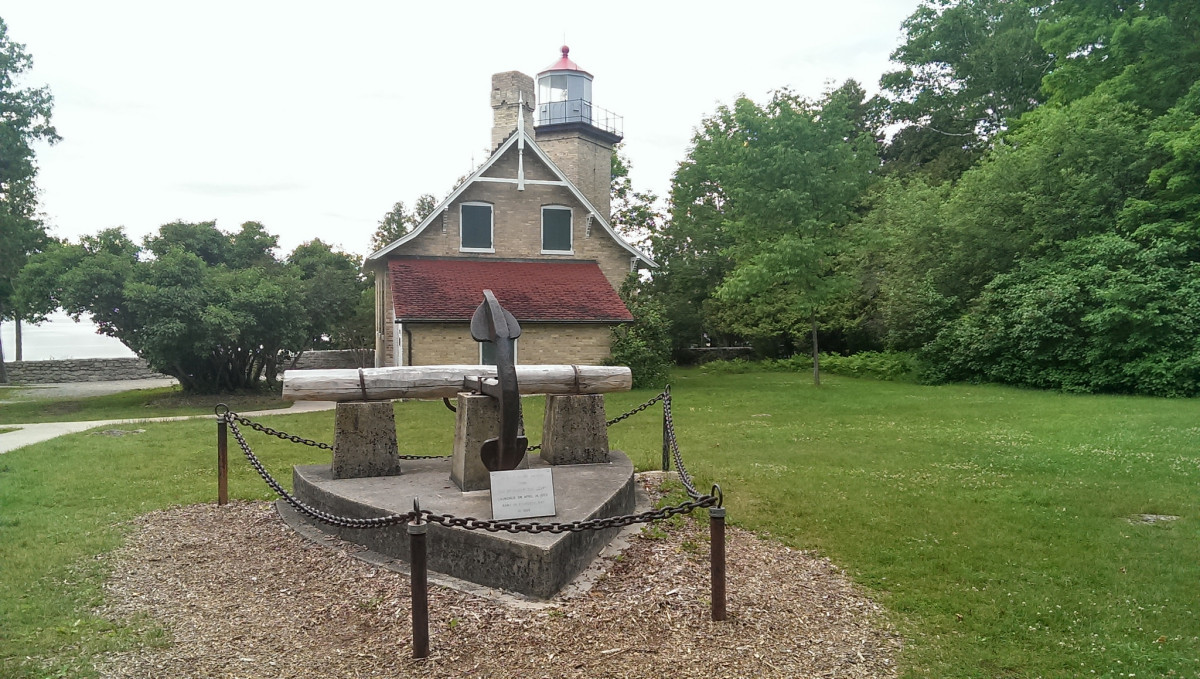 Eagle Bluff Lighthouse in Peninsula State Park in Door County, Wisconsin