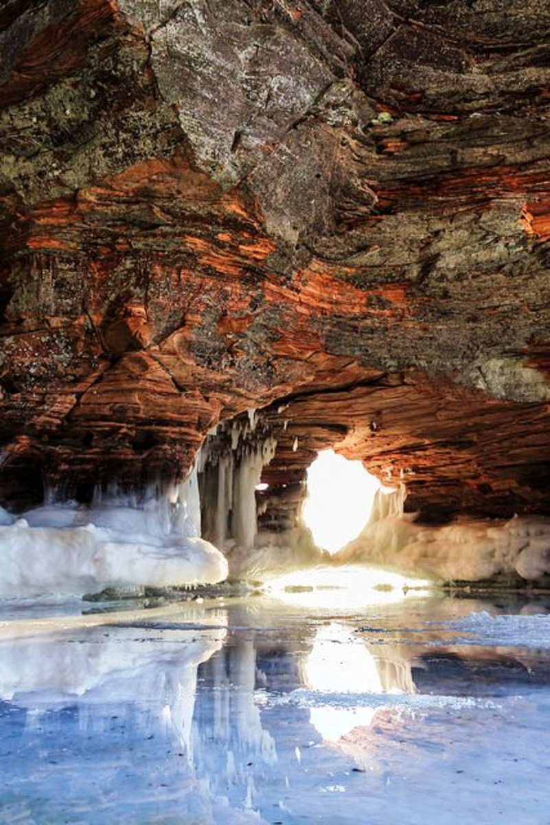 Ice Cave at Apostle Islands National Lakeshore
