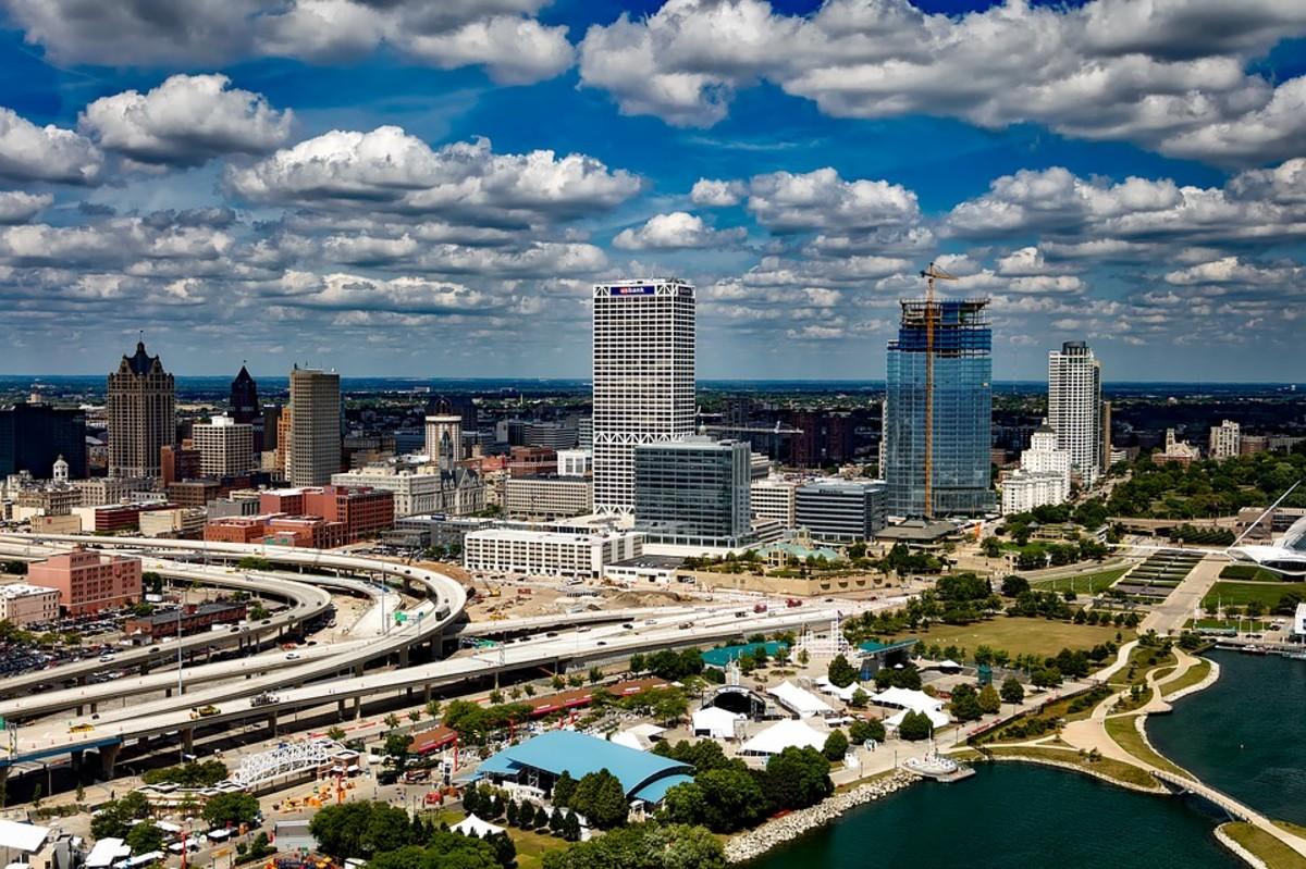 Skyline in Milwaukee, Wisconsin