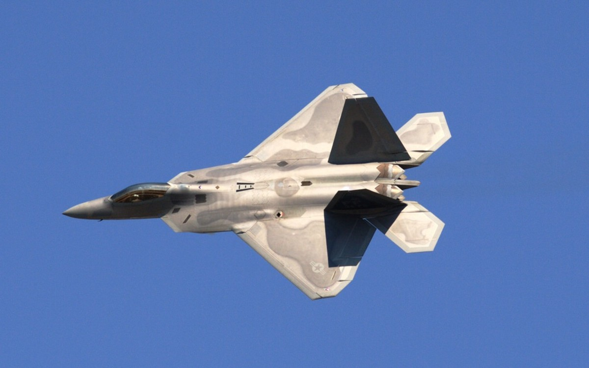 F-22 Raptor at EAA's AirVenture in Oshkosh, Wisconsin
