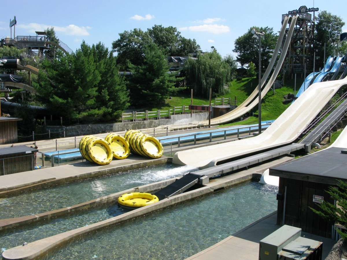Point of No Return at Noah's Arc Waterpark in Wisconsin Dells, Wisconsin.