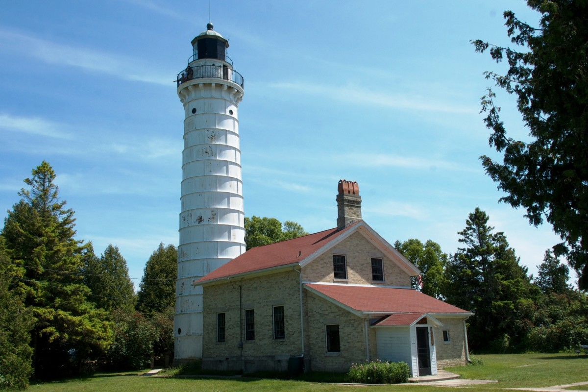 Cana Island Light on Lake Michigan near Bailey's Harbor in Door County, Wisconsin