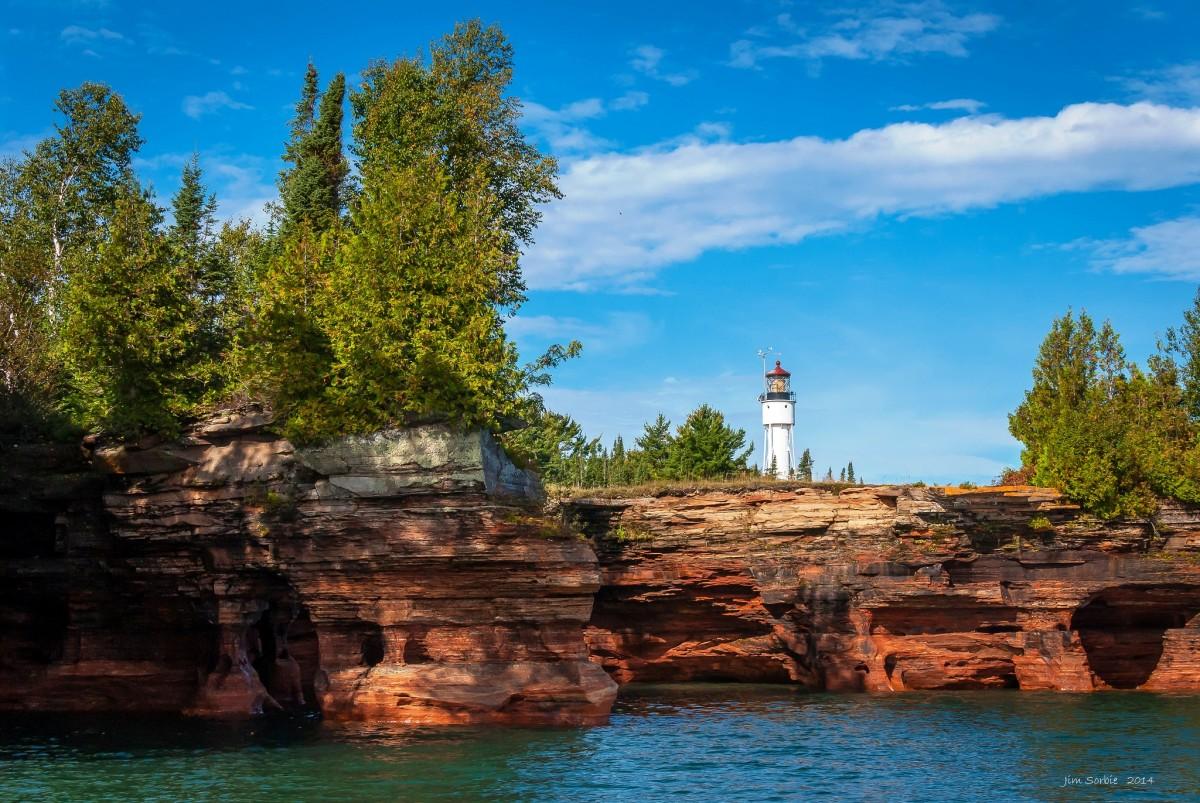 Devils Island Lighthouse at Apostle Islands National Lakeshore.