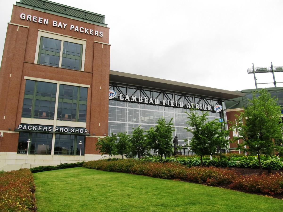 Lambeau Field in Green Bay, Wisconsin