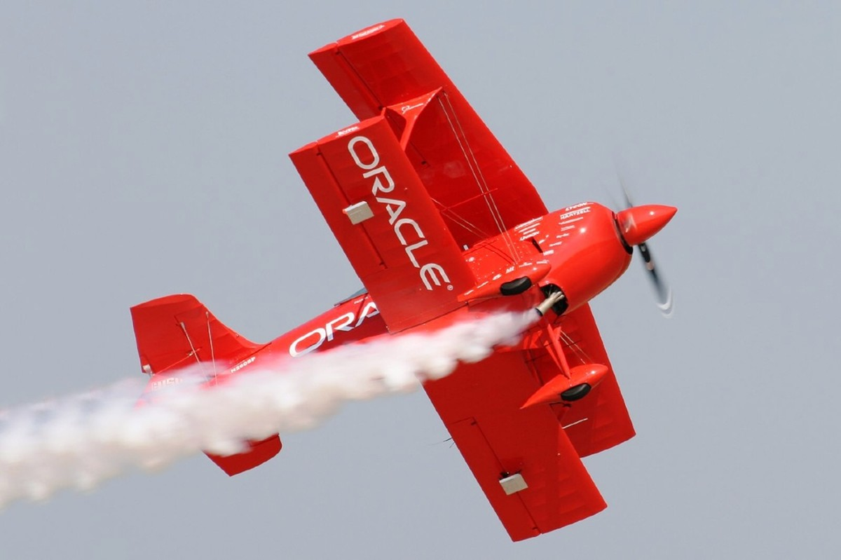 Sean D. Tucker and the Oracle Challenger Plane at EAA's AirVenture in Oshkosh, Wisconsin
