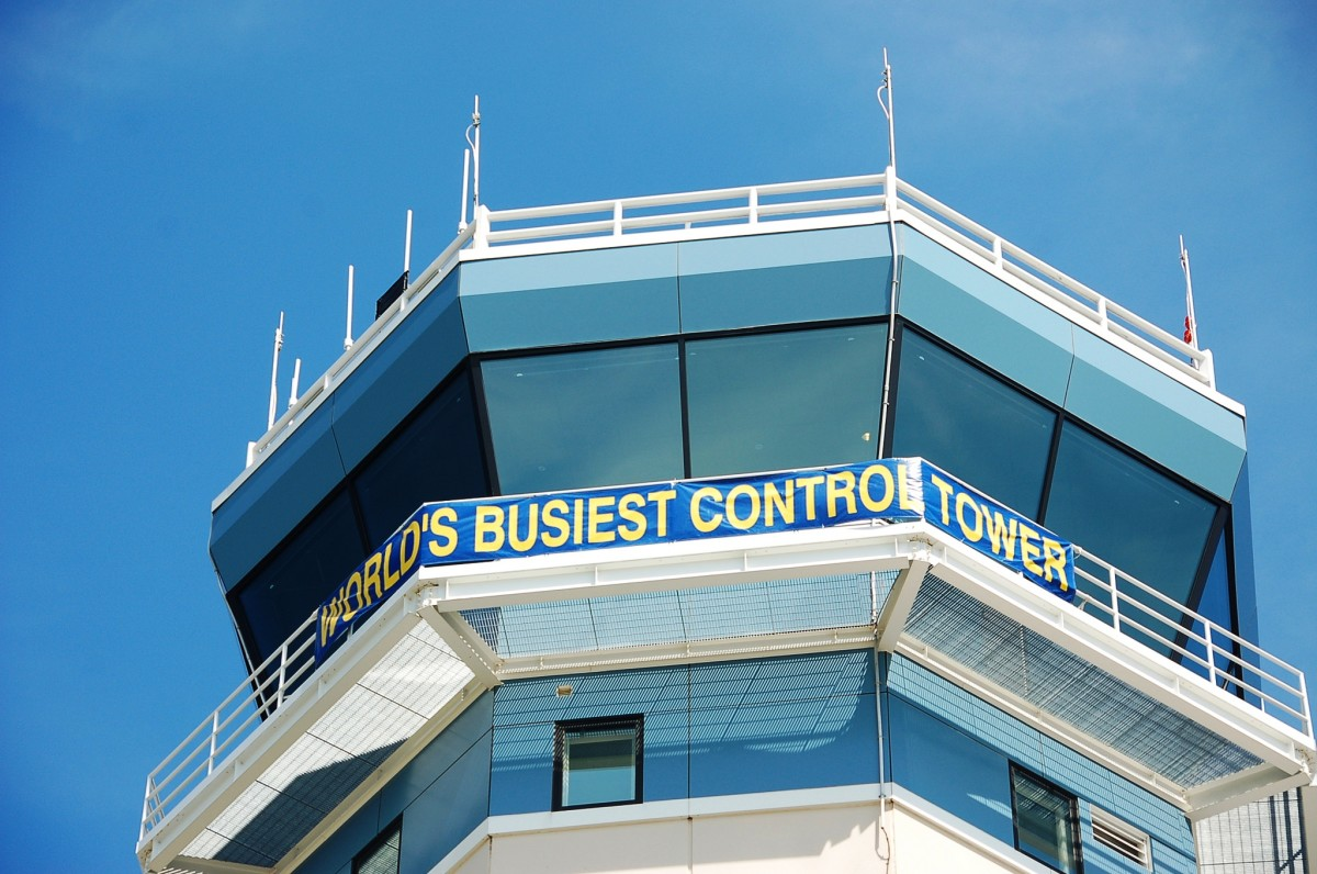 Wittman Airport (OSH) is the busiest airport in the world during the EAA's AirVenture in Oshkosh, Wisconsin