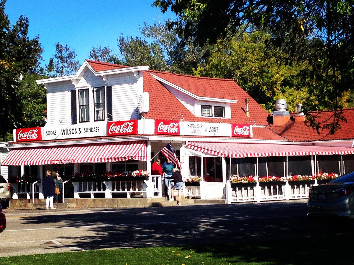Wilson's Restaurant & Ice Cream Parlor in Ephraim in Door County, Wisconsin