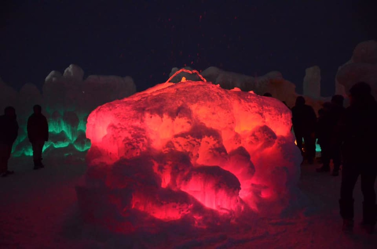 Ice Castles at Lake Geneva, Wisconsin