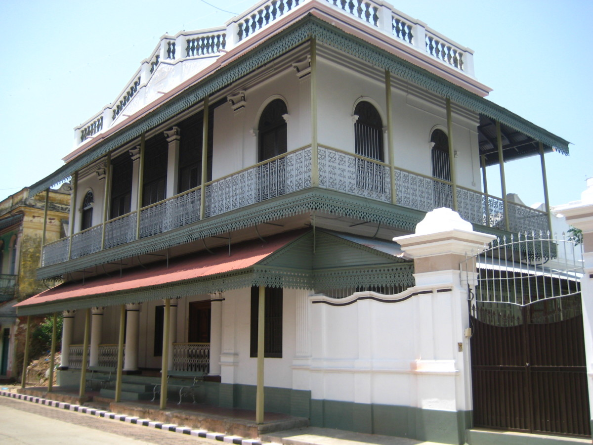 A house based on Franco-Tamil architecture.