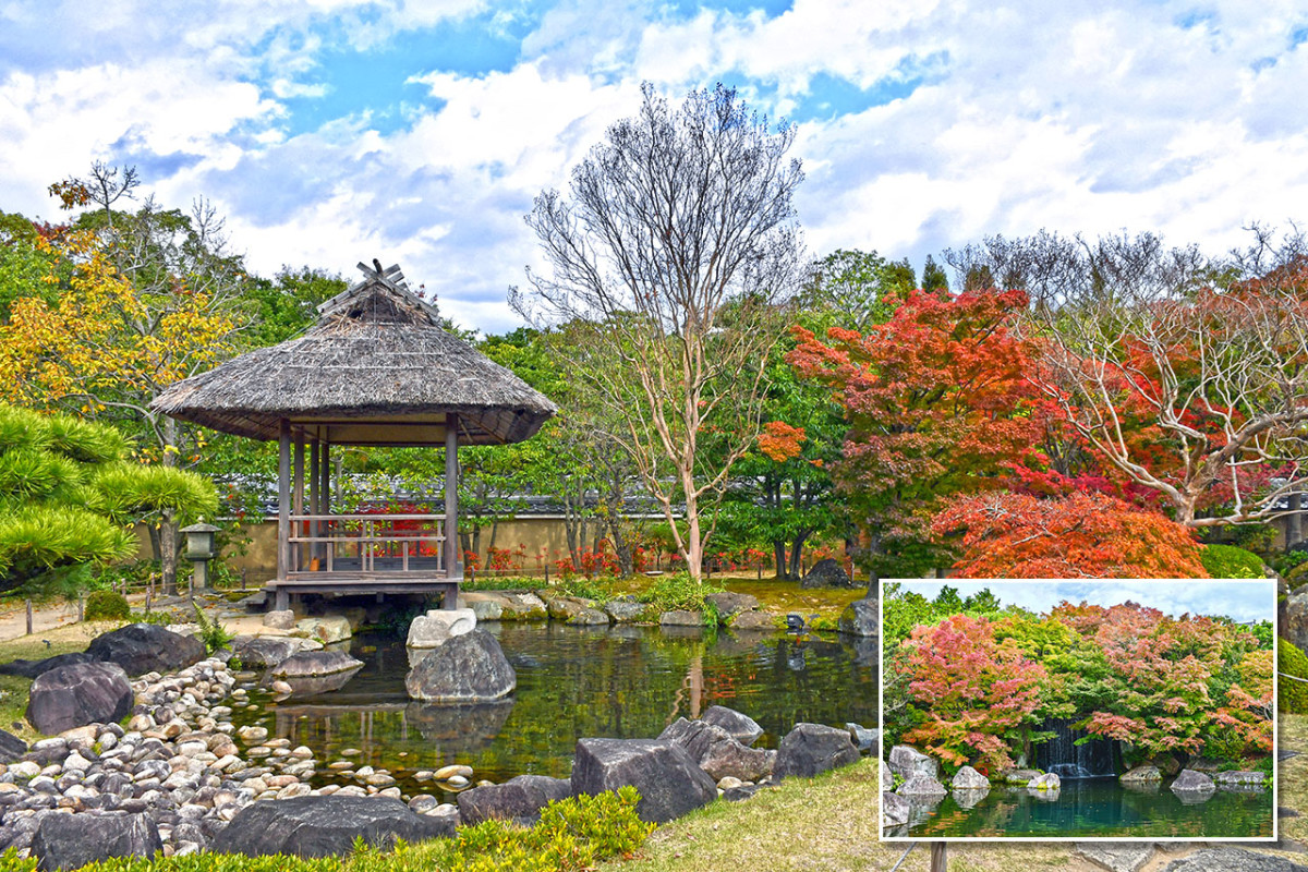 The rustic serenity of beautiful Koko-en is perfect after a tiring visit to majestic Himeji Castle.