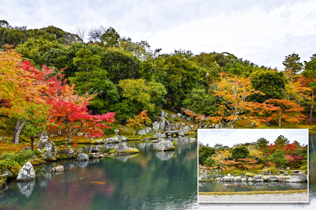 Tenryū-ji in November. The spectacular autumn foliage is one of the biggest tourist draws of Kyoto.