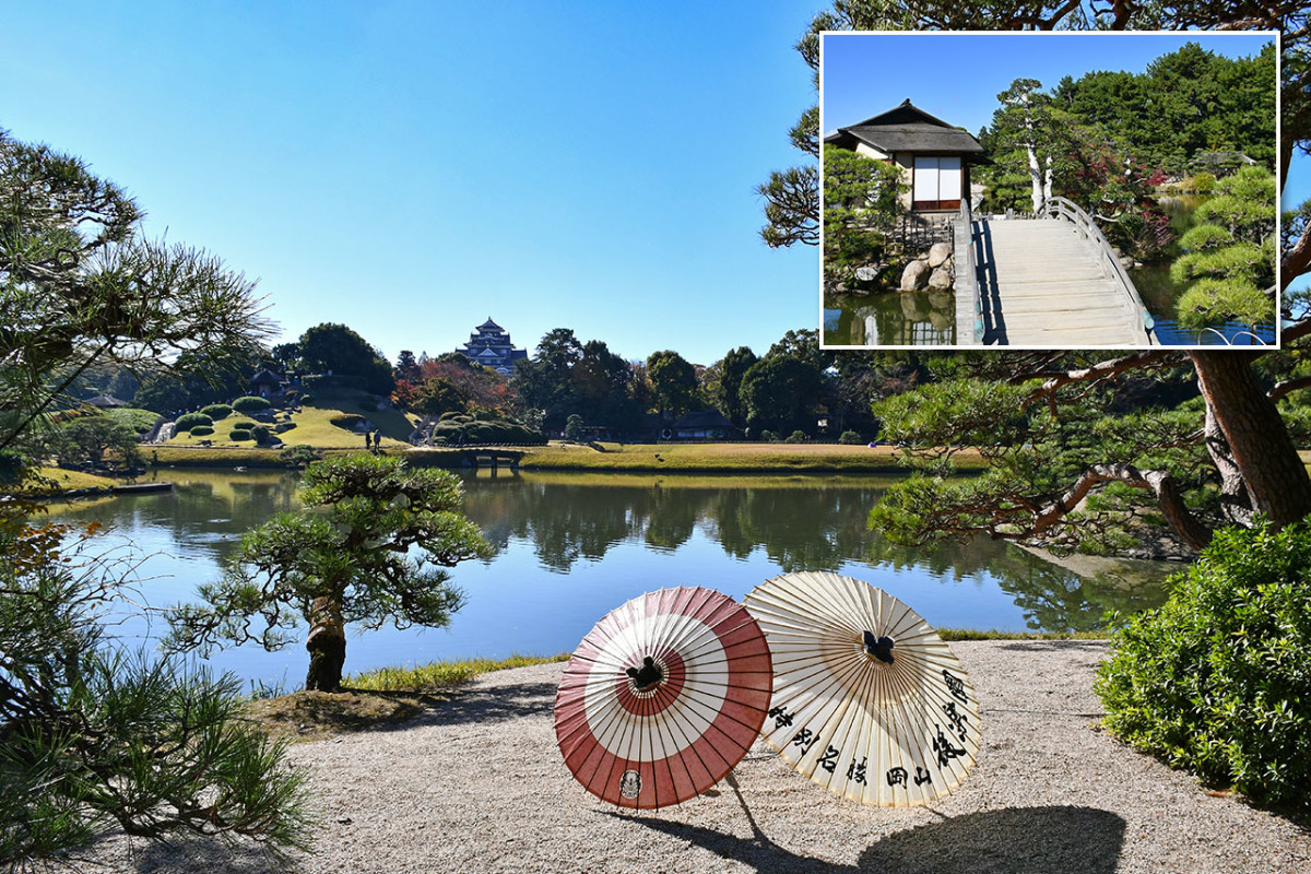 Strolling in peaceful Kōraku-en is akin to taking a mini trip across the Chugoku and Kansai Region of Japan.