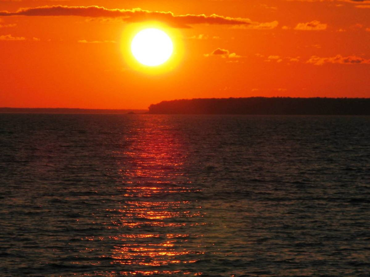 Sunset at Sister Bay, Wisconsin - Door County
