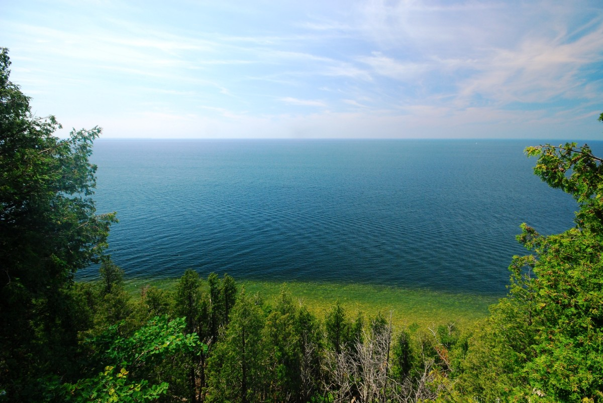 View from Ellison Bluff State Natural Area, Ellison Bay, Wisconsin - Door County
