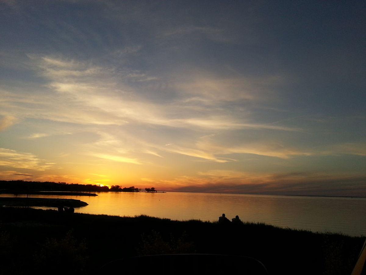 Sunset in Egg Harbor in Door County, Wisconsin