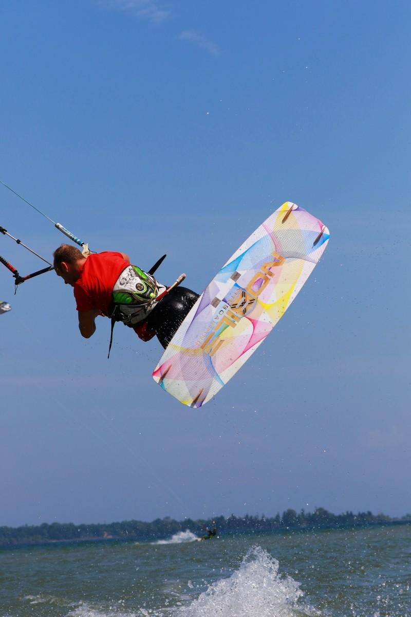 Kite Boarding at Bailey's Harbor in Door County, Wisconsin