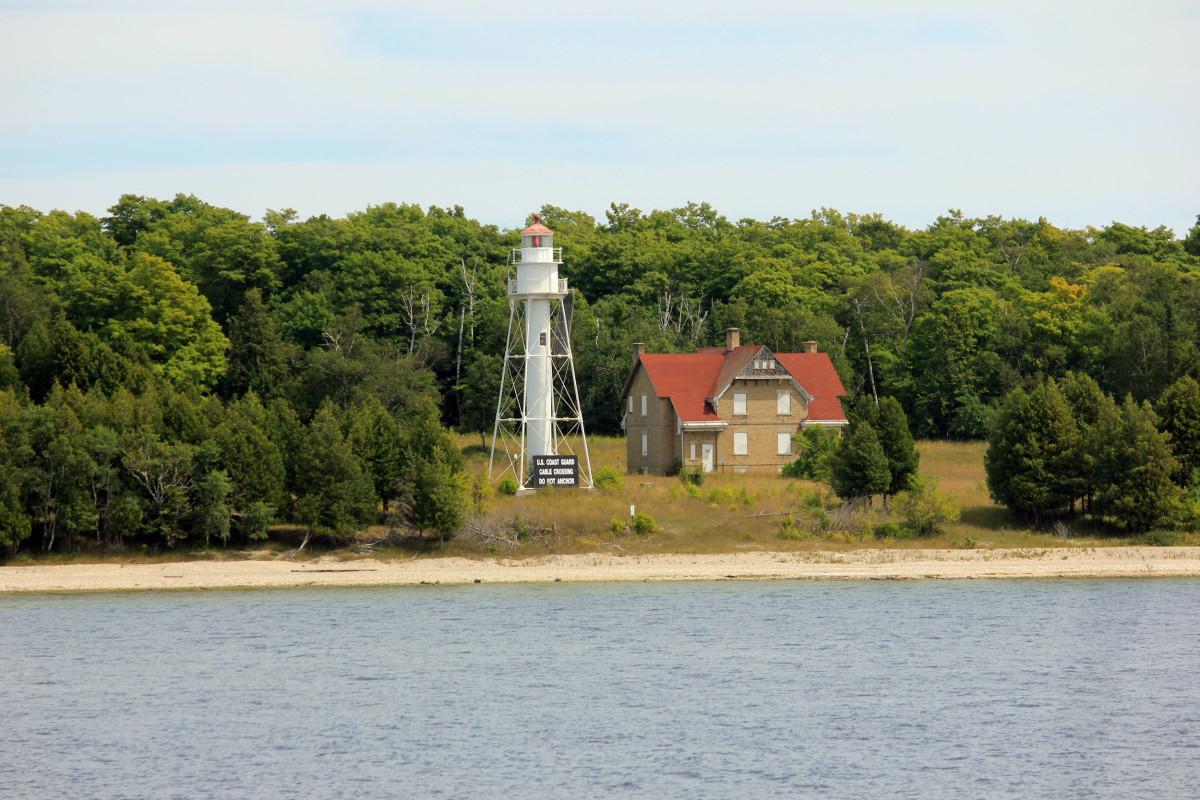 Lighthouse on Washington Island, Door County, Wisconsin.