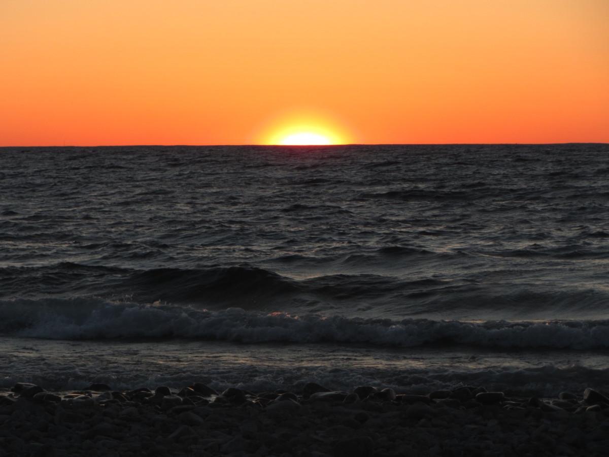 Sunset as seen from Ellison Bay in Door County, Wisconsin