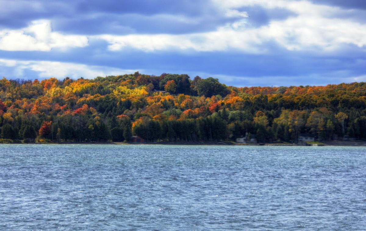 Egg Harbor fall colors in Door County, Wisconsin