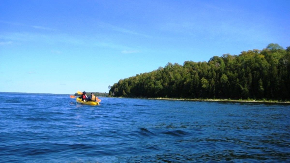 Kayaking at Egg Habor in Door County, WI