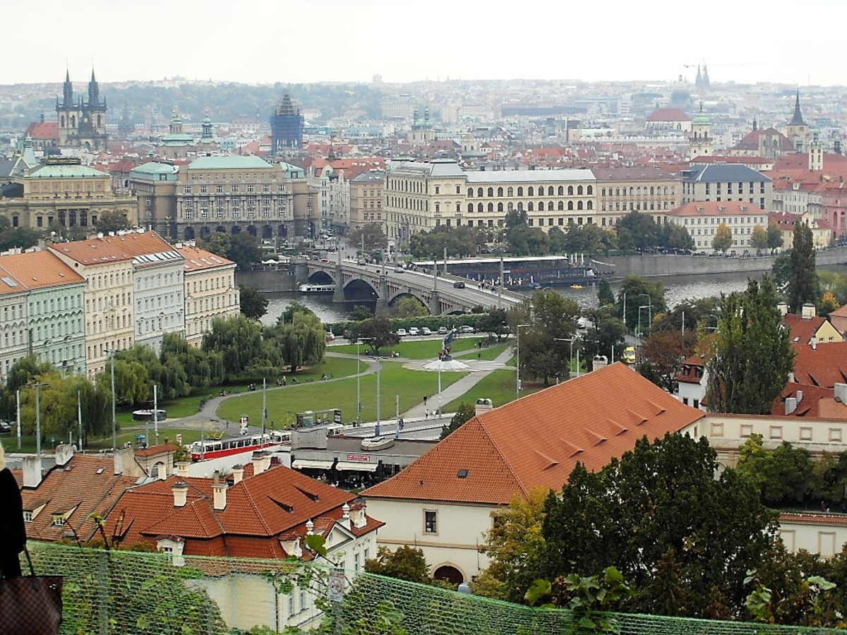 View of Prague Old Town from Villa Richter.