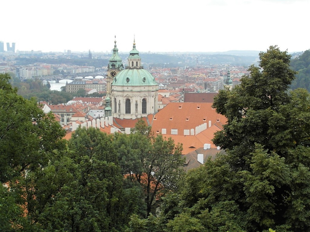 View of Mala Strana from the Old Royal Palace.
