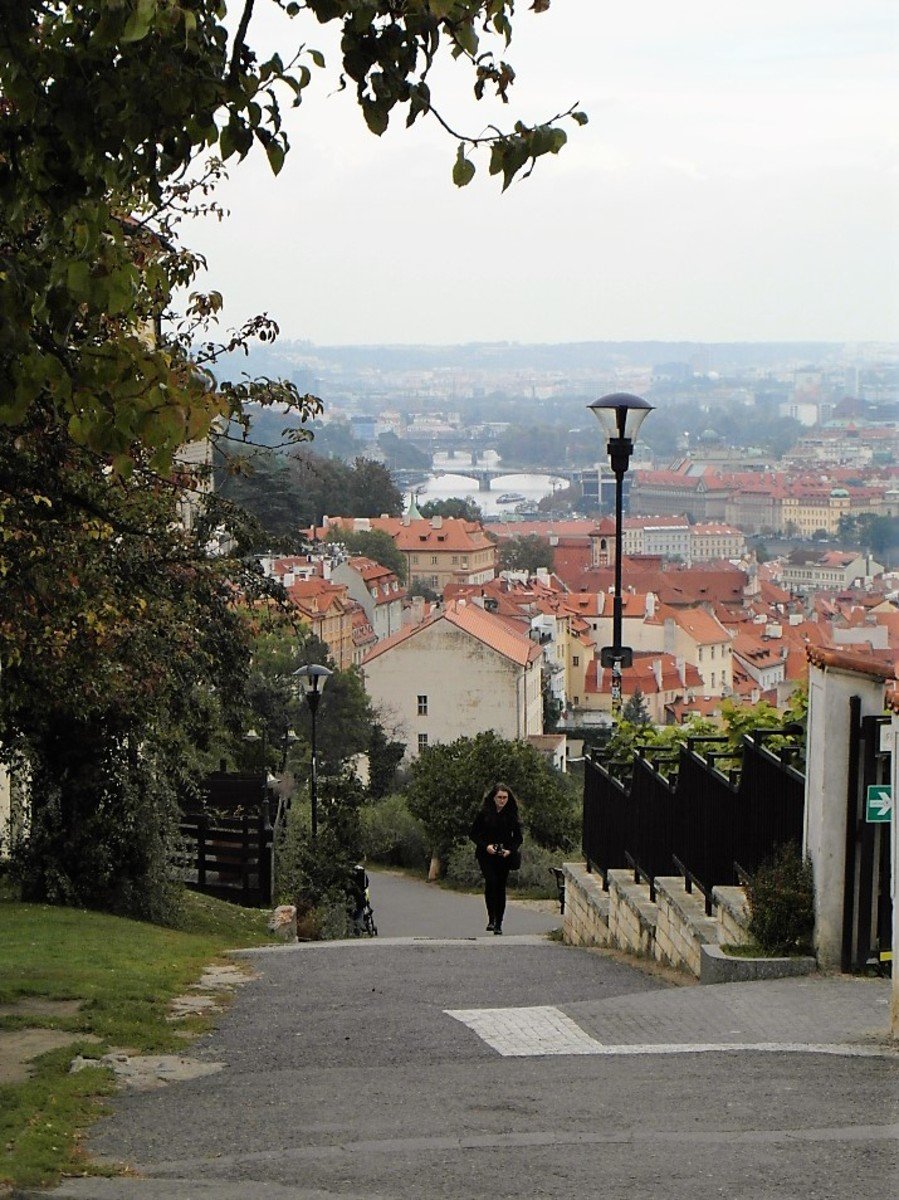 The way down from Strahov Monastery.