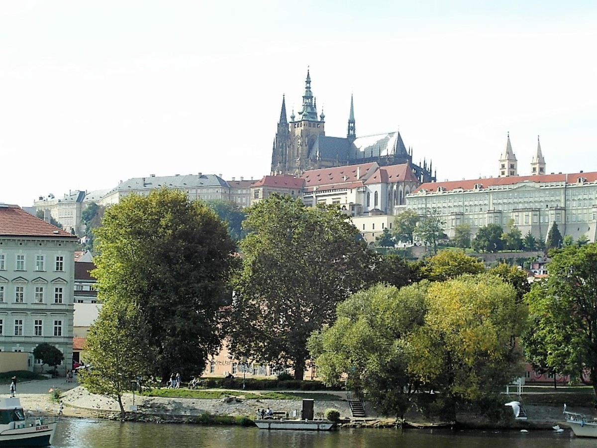 Prague Castle from the River Vltava.